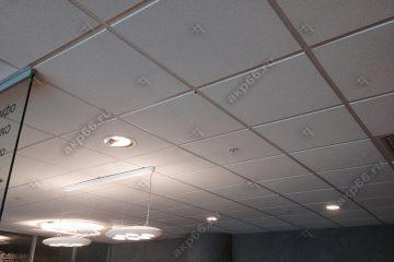Потолок Армстронг Дюна кромкой Тегулар на белой подвесной системе (1-1)