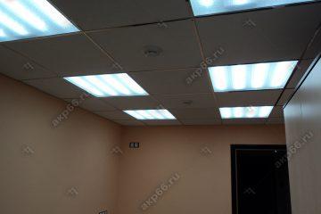 Потолок типа Армстронг Лилия на хромированной подвесной системе (каркас суперхром зеркальная) (1-15)