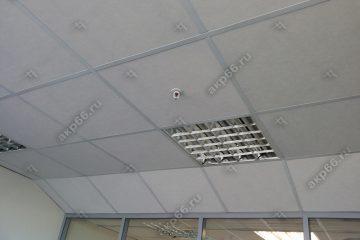 Потолок типа Армстронг Лилия на белой подвесной системе (1-2)