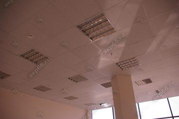 Потолок Армстронг Байкал на белой подвесной системе (1-5)