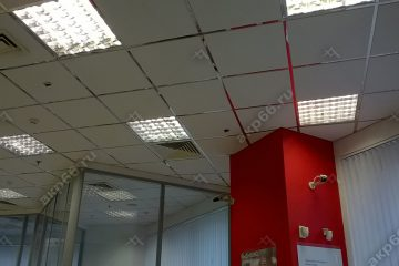 Потолок Армстронг ОАЗИС на хромированной подвесной системе (1-6)