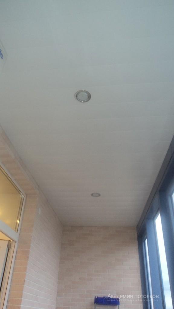 Потолки на балконе - фото наших работ - академия потолков.