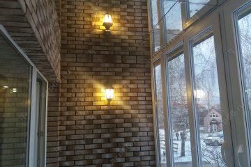 Зеркальный потолок на балконе подвесная система суперхром