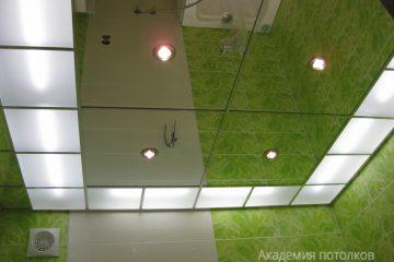 Зеркальный потолок ванна