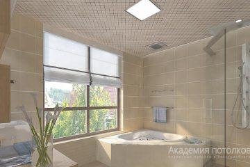 Кассетный потолок 30х30 на скрытой подвесной системе с рисунком «Ромбик зеркальный»