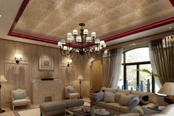 Кассетный потолок 30х30 на скрытой подвесной системе «Золотые лепестки»