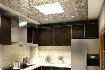 Кассетный потолок 30х30 на скрытой подвесной системе мозаика серебро или золото