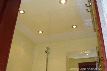 Кассетный потолок 30х30 на скрытой подвесной системе желто-белый