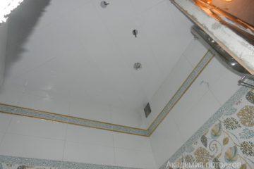 Кассетный потолок 30х30 на скрытой подвесной системе белый по диагонали