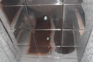 Кассетный потолок металлический 60х60 под зеркало на системе супер-хром