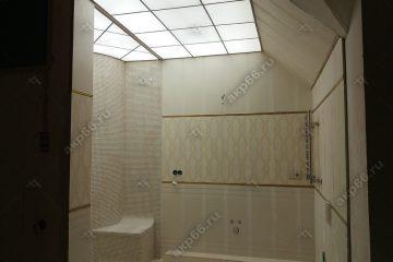 Потолок с подсветкой из оргстекла (Акрил) в ванной комнате