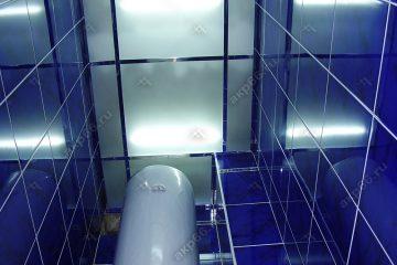 Потолок из матового стекла в туалете подвесная система суперхром