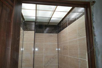 Потолок из матового стекла с подсветкой в туалете подвесная система супер-золото