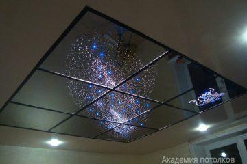 """Потолок Млечный путь фиолетово-синий с эффектом """"Звездное небо"""""""