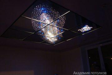 """Зеркальный потолок Галактика с эффектом """"Звездное небо"""""""