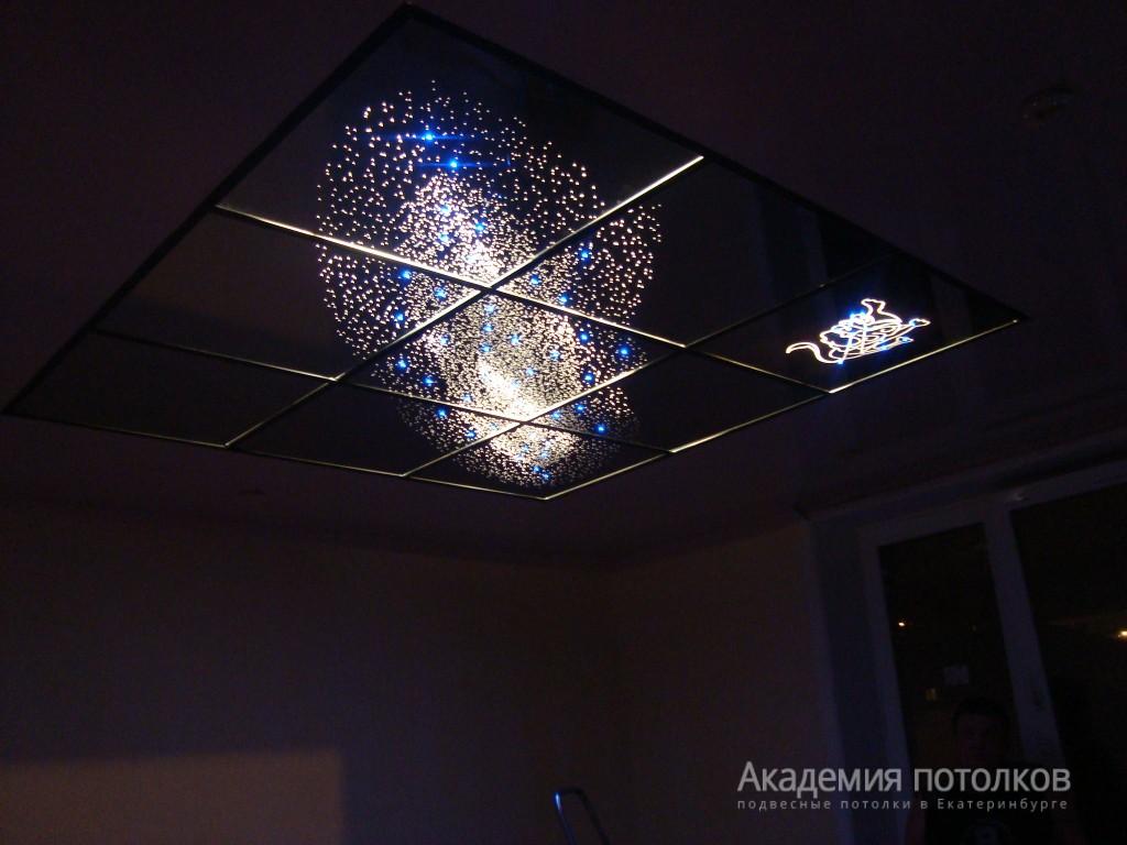 Как в подвесном потолке сделать светильники
