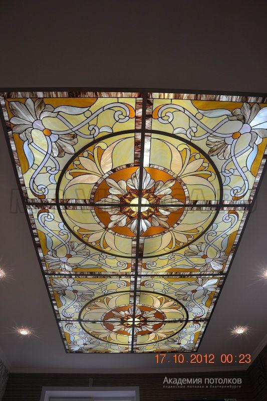 потолок витражный фото