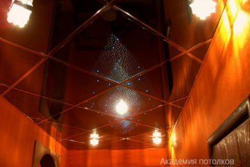 """Потолок """"Звездное небо"""" со светильниками"""