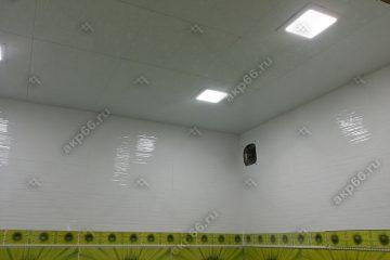 Кассетный потолок в ванной комнате Шелковое тиснение на скрытой подвесной системе