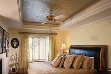 Кассетный потолок в спальную 300х300 мм на скрытой подвесной системе