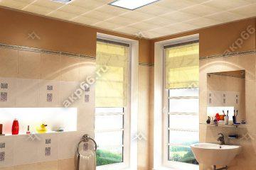 Кассетный потолок в ванной комнате на скрытой подвесной системе