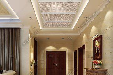 Кассетный потолок в коридоре квадрат в квадрате на скрытой подвесной системе