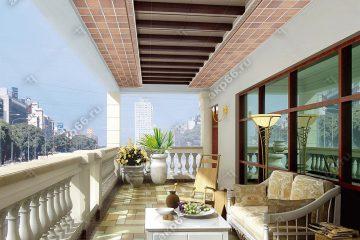 Кассетный потолок на балконе деревянная клетка на скрытой подвесной системе