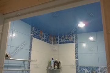 Кассетный потолок в ванной Небо на скрытой подвесной системе Небо
