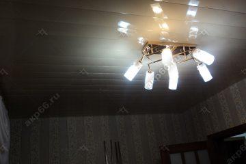 Реечный потолок в комнате цвет золотистый жемчуг