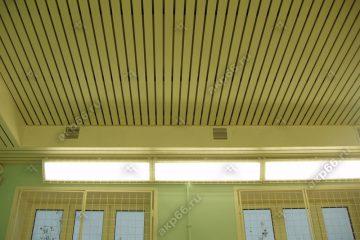 Реечный потолок для Спортзала