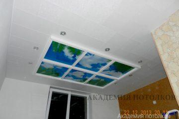 """Потолок с фотопечатью """"Небо"""""""