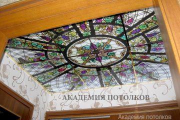 """Потолок с фотопечатью """"Мозаика"""" в коридоре."""