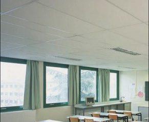 Потолок типа Армстронг Лилия 1200х600 на белой подвесной системе