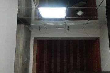 Потолок типа Армстронг металлический алюминиевый под зеркало на системе суперхром