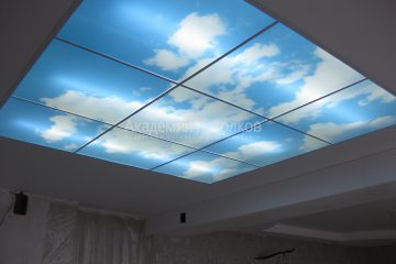 """Потолок с фотопечатью """"Небеса"""""""