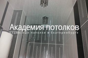 Реечный потолок Серебро в ванной