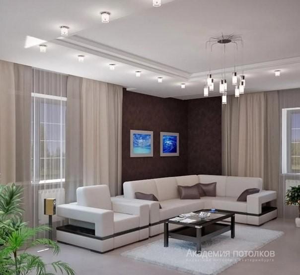 фото потолки подвесные в зале