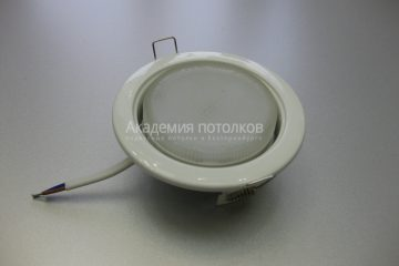 Светильник Ecola GX53 H4, металлический, белый