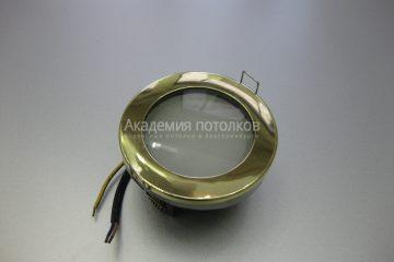 Светильник Ecola GX53 H9 IP65, влагостойкий, золото