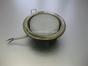 Светильник Ecola GX53 H4, металлический, черненая бронза
