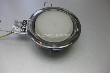 Светильник Ecola GX53 H4, металлический, черный хром