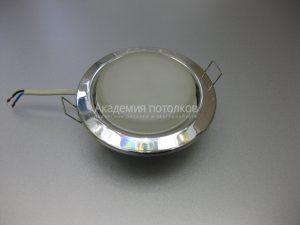 Светильник Ecola GX53 H4, металлический, хром