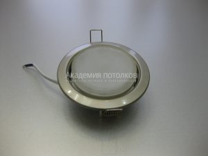Светильник Ecola GX53 H4, металлический, жемчуг