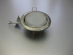 Светильник Ecola GX53 H4, металлический, сатин хром