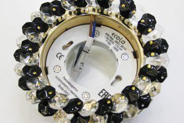 Круг с хрусталиками прозрачный и чёрный золото