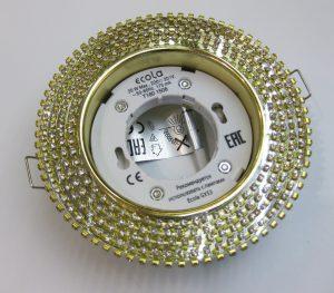 Светильник Ecola GX53 круглый с прозрачными стразами