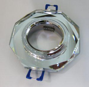 Светильник Ecola MR16, 8-угольник, Хром/ Хром