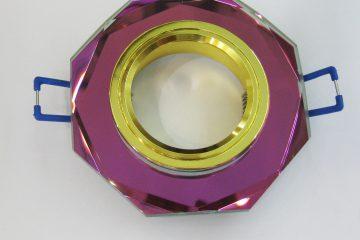 Светильник Ecola MR16, 8-угольник, Мультиколор/ Золото