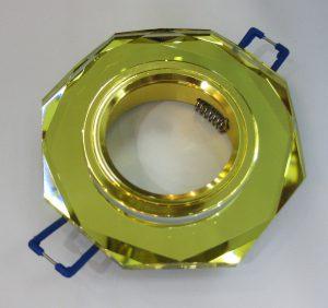 Светильник Ecola MR16, 8-угольник, Золото/ Золото