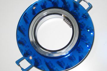 Светильник Ecola MR16, гранёный, Голубой/ Хром